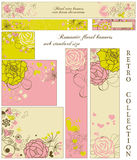 Floral retro banners collection Royalty Free Stock Photo