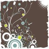 Floral retro design Stock Images