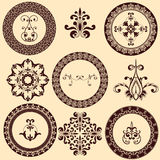 Floral Retro Design Elements Stock Images