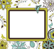 Floral Retro Frame Royalty Free Stock Photos