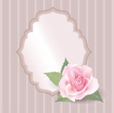 Floral retro frame with flower rose posy. Stock Image