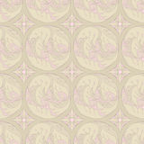 Floral retro pattern. Seamless retro bronze pattern with leafs and flowers Stock Images