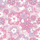 Floral retro pattern Royalty Free Stock Photos