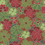 Floral retro pattern Stock Image