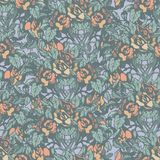 Floral Retro Pattern Royalty Free Stock Image