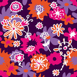 Floral retro seamless background Royalty Free Stock Photo