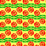 A floral retro seamless pattern. Stock Photography