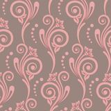Floral retro seamless pattern. Damask seamless floral background pattern. Vector illustration stock illustration