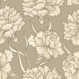Floral retro seamless pattern. Flower background. Floral seamles Stock Photos