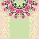 Floral retro seamless pattern (roses) Stock Image