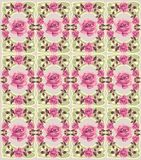 Floral retro seamless pattern (roses) Royalty Free Stock Image