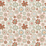 Floral retro seamless pattern Stock Image