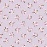 Floral retro seamless pattern. Royalty Free Stock Image