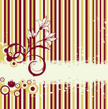 Floral retro vector backdrop Royalty Free Stock Photo