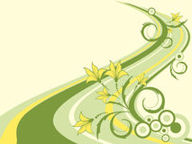 Floral retro vector background Royalty Free Stock Photo