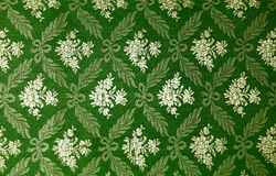 Floral retro wallpaper. Floral green retro wallpaper.patterned textile Royalty Free Stock Image