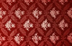 Floral retro wallpaper. Floral red retro wallpaper.patterned textile Stock Image