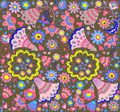 Floral retro wallpaper Stock Images