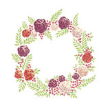 Floral ring frame Royalty Free Stock Photography