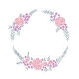 Floral ring frame Stock Image