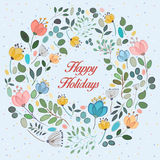 Floral ring. Happy holidays Royalty Free Stock Photos