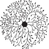 Floral ring mandala. Centered doodle in a floral style Stock Photography
