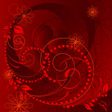 Floral rojo del vector ilustración del vector