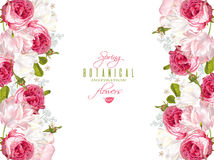 Floral romantic banner Royalty Free Stock Photo