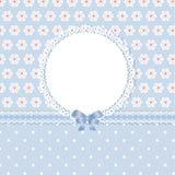Floral romantic blue background