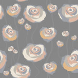 Floral rose background, seamless Stock Image