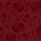 Floral rose background, seamless Royalty Free Stock Photography