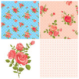Floral rose patterns Royalty Free Stock Photography