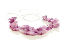 Floral rose petal necklace Royalty Free Stock Images
