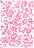 Floral rosy decoration on white Royalty Free Stock Photography