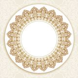 Floral round  border on seamless background. Stock Photography