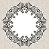 Floral round  border on seamless background. Royalty Free Stock Photography