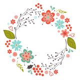 Floral round composition Royalty Free Stock Photography