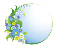 Floral round frame Stock Images