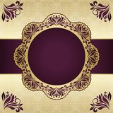 Floral round frame. Abstract background Stock Image