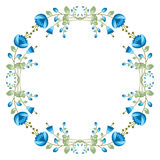 Floral round frame Stock Photo