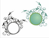 Floral round frame pattern Royalty Free Stock Photos