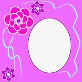 Floral round frame with place for text Stock Images