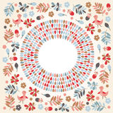 Floral round frame Royalty Free Stock Images