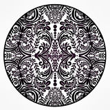 Floral round lace ornament mandala. Royalty Free Stock Photos
