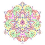Floral round mandala for meditation and relaxation. Stock Photography