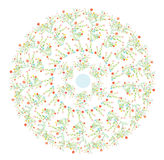 Floral round motive spring design Stock Photos