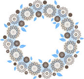 Floral round ornament Royalty Free Stock Photos