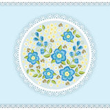 Floral round ornament. Stock Image