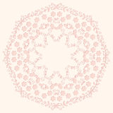 Floral round ornament. Royalty Free Stock Photo