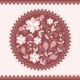 Floral round ornament. Royalty Free Stock Image